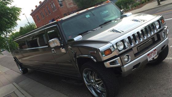 Metallic Charcoal Hummer Limo Services - H2 Charcoal Hummer Limousine | Avi Limo